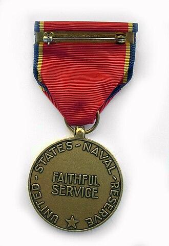 Naval Reserve Medal - Image: Naval Reserve Medal back