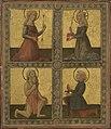 Neroccio de' Landi, Saints Christina of Bolsena(?),Catherine of Alexandria, Jerome, and Galganus, c. 1470.jpg