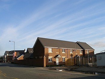 English: New housing on a brownfield site The ...