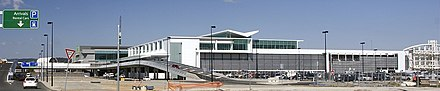 Canberra International Airport terminal New terminal building at Canberra Airport cropped2.jpg
