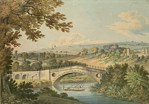 Newbridge, Bath - The New Bridge in 1806