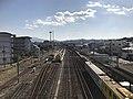 Nishi-Karatsu Station from Rifurebashi Bridge.jpg