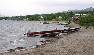 Nondalton, Alaska - Nondalton Village on Six Mile Lake