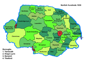 Hundreds of Norfolk - Norfolk Hundreds, 1830