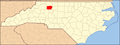 North Carolina Map Highlighting Yadkin County.PNG