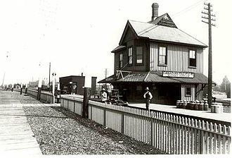 Parkdale, Toronto - Parkdale railway station in 1898. The railway station opened in 1856.