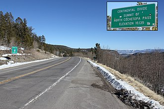 Colorado State Highway 114 - Image: North Pass