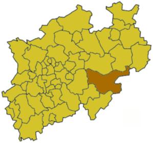 Hochsauerlandkreis - Image: North rhine w hsk