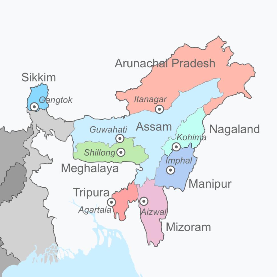 Skyline of Northeast India