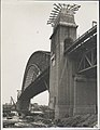 Northern abutment tower of the Harbour Bridge looking south, 1932 (8282696299).jpg