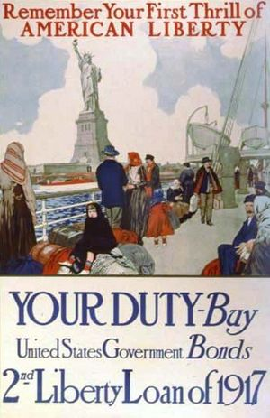 American WWI poster. 1917. Text : Remember You...