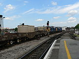 Nuclear waste flask train at Bristol Temple Meads 01.jpg