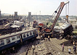 Nuneaton rail crash - Image: Nuneaton Crash 19750607