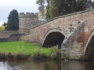 Siege of Haddington - Nungate bridge: Haddington is bounded by the River Tyne to the south and west