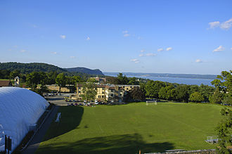 Nyack College - The view of the Rockland Campus which overlooks the Hudson River in New York