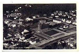 Nybro airphoto, from an old postcard