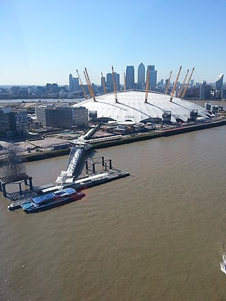 Millennium Dome - The dome, seen from the Emirates Air Line