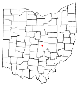 Location of Granville, Ohio