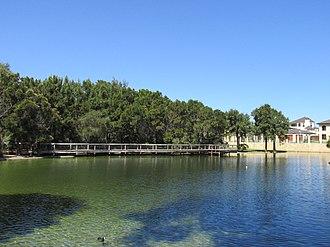 Iluka, Western Australia - Image: OIC iluka james mccusker park 5 lake 3