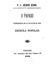 Araripe Júnior: O papado: conferência de 12 de julho de 1874. Eschola popular