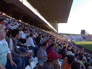 Córdoba CF - Crowd at the Estadio Nuevo Arcángel