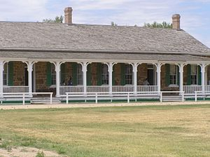 Fort Larned National Historic Site - Image: Officers Quarters P5310630
