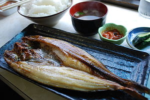 Mackerel as food - Okhotsk atka mackerel, Japan