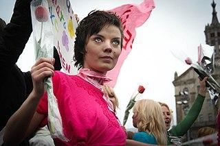 Oksana Shachko Ukrainian artist and activist with FEMEN