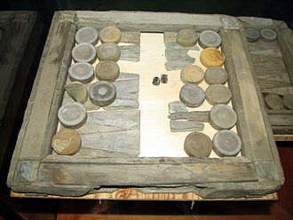 "Tables (board game) - Brädspel (""board game"") game recovered from the Swedish 17th century warship Vasa."