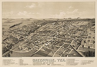 Greenville, Texas - City in 1886