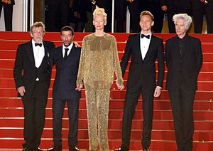 Only Lovers Left Alive - Cast and director at the 2013 Cannes Film Festival.