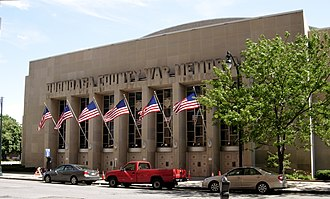 Oncenter War Memorial Arena - Image: Onondaga County War Memorial side