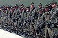 Opening Ceremony of the Visoko Bridge in Bosnia 1996 cropped.jpg