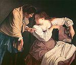 Orazio Gentileschi --Martha tadelt ihre Schwester Maria.jpg