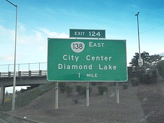 Oregon Route 138 - Oregon Route 138 Interstate Sign