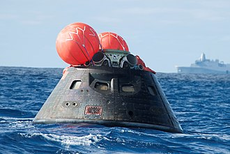 Space capsule - Planned Orion capsule, after splashdown