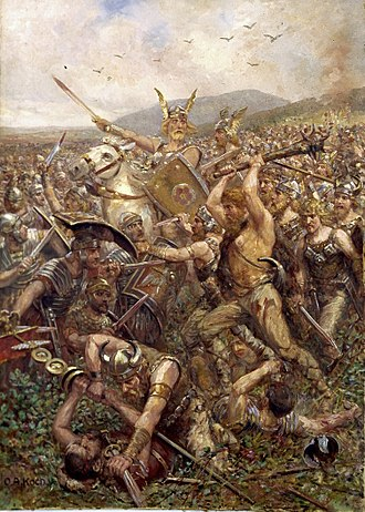 Germanic Wars - The Varus battle by Otto Albert Koch, 1909