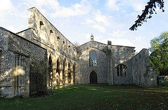 Oxborough - Image: Oxborough Church Ruined Nave(John Salmon)Oct 2004