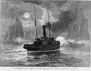 Oyster Wars - Image: Oyster wars 1886 Harpers Weekly