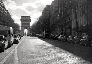 Avenue de Wagram - The Avenue de Wagram with the Arc de Triomphe in the background.