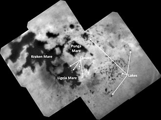 Lakes of Titan - Titan lakes (September 11, 2017)