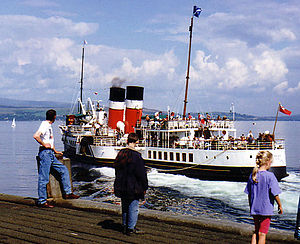 PS Waverley - Waverley leaves Dunoon on her way back up the Clyde