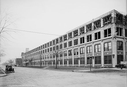 Packard Automotive Plant, an automobile factory that was closed and abandoned in 1958 Packard plant no 10 construction.jpg