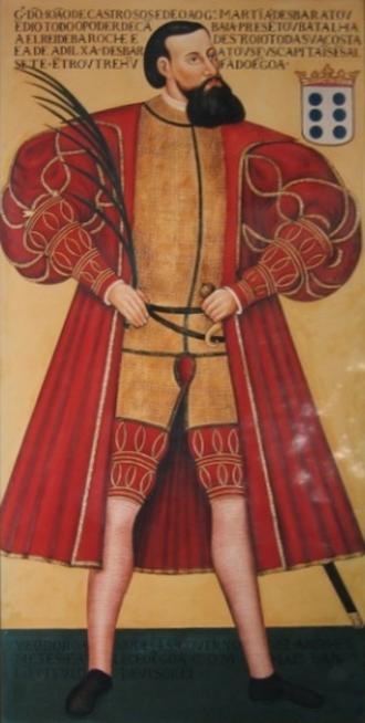 João de Castro - Image: Painel de D. João de Castro, Patrono do IPE, exposto na Sala D. João de Castro