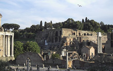 The Ancient-Imperial-Roman palaces of the Palatine are a series of palaces located in the Palatine Hill visibly express the power and wealth of emperors from Augustus until the 4th century. Palatino (Palatine Hill, Rome).jpg