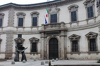 Palazzo del Senato (Milan) - Façade of the palazzo