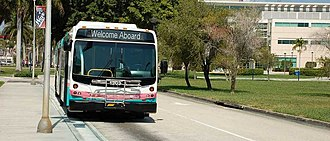 Palm Tran - A PalmTran bus at Florida Atlantic University