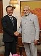 Panasonic Global President Kazuhiro Tsuga meets PM Modi.jpg