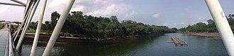 Sher-e-Bangla Nagar - Image: Panorama of Crescent Lake Chandrima Uddan