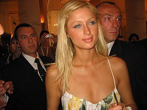 Paris Hilton at Cannes Film Festival 2005